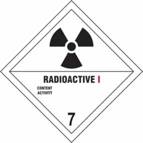 Radioactive I 7 - s/a vinyl - Diamond 200 x 200mm sign