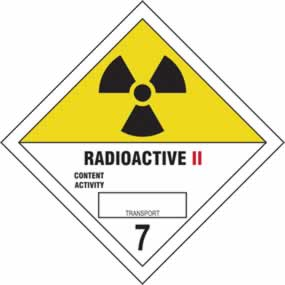 Radioactive II 7 - s/a vinyl - Diamond 100 x 100mm sign