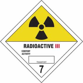 Radioactive III 7 - s/a vinyl - Diamond 200 x 200mm sign