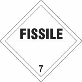 Fissile 7 - s/a vinyl - Diamond 100 x 100mm sign