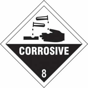 Corrosive 8 - s/a vinyl - Diamond 100 x 100mm sign