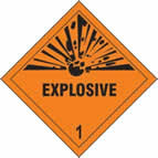 Explosive 1 - s/a vinyl - Diamond 200 x 200mm sign
