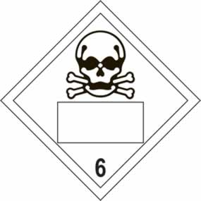 Skull 6 Symbol - s/a vinyl - Placard 250 x 250mm sign