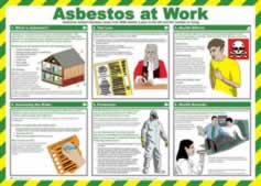 Safety Poster - Asbestos at work Laminated Poster sign