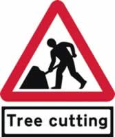 Road works & Tree Cutting Supplied plate - Classic Roll up traffic sign 750 mm Triangle Triflex roll up sign sign