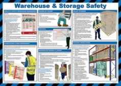 Safety poster - Warehouse & storage safety - LAM 590 x 420mm sign