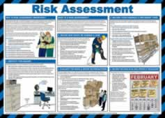 Safety poster - Risk Assessment - LAM 590 x 420mm sign