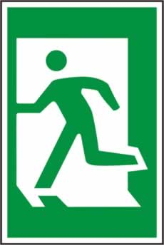 Man running left - 1mm rigid pvc 200 x 300mm sign