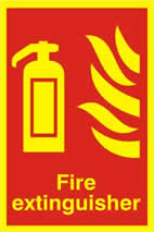 Fire extinguisher PHO - 200 x 300mm sign