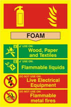 Fire extinguisher composite - Foam - PHO 200 x 300mm made from Foam sign