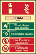 Fire extinguisher composite - Foam - PHS 200 x 300mm made from Foam sign