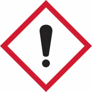 GHS irritant symbol - s/a vinyl - 50 x 50 mm sign