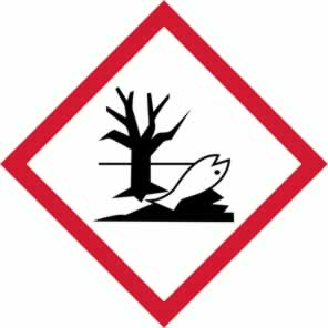 GHS Environmentally damaging symbol - s/a vinyl - 50 x 50 mm sign