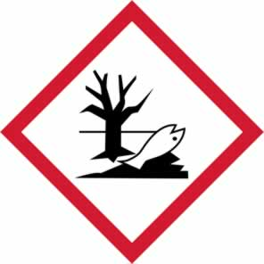 GHS Environmentally damaging symbol - s/a vinyl - 100 x 100 mm sign