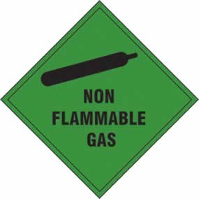Non Flammable Gas - s/a vinyl - 200 x 200mm sign