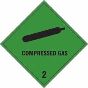Compressed Gas 2 - s/a vinyl - 200 x 200mm sign