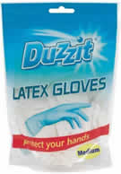 Latex Gloves 18 Packet Medium sign