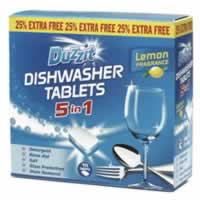 15 Packet 5 in 1 Dishwasher Tablets sign