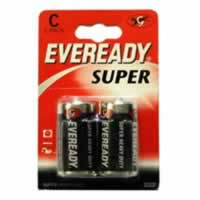 S3952 C Eveready Super Zinc Batteries card of 2 sign