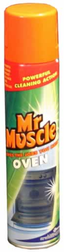 300 ml Mr Muscle Oven Cleaner DGN sign