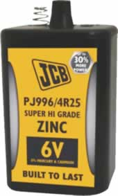 JCB 6V PJ996 / 4R25 Lantern Battery sign