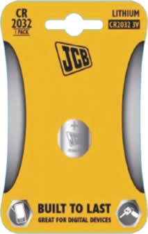 JCB CR2016 Coin Cell Battery sign