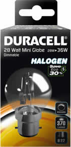 28 Watt BC Eco Halogen Clear Golf