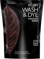 400g Dylon Wash and Dye Chocolate Brown sign