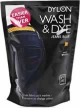 400g Dylon Wash and Dye Jeans Blue sign