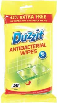 50 Packet Anti-Bacterial Wipes sign