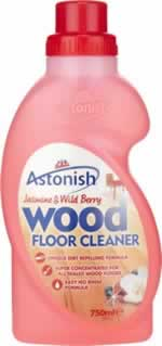 750 ml Flawless Wood Floor Cleaner sign