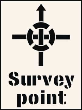 Survey Point Stencil 190 x 300mm Stencil