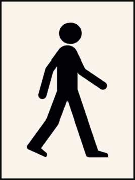 Walking Man Stencil 400 x 600 mm Stencil
