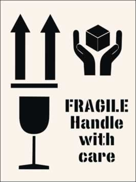 Fragile Handle With Care Stencil 190 x 300mm Stencil