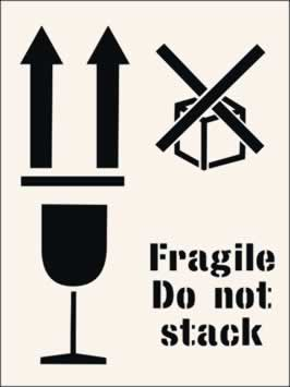 Fragile do not stack Stencil 300 x 400mm Stencil