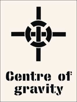 Centre of Gravity Stencil 300 x 400mm Stencil