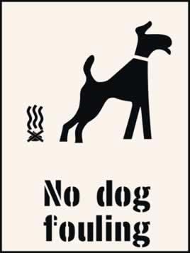 No dog fouling Stencil 300 x 400mm Stencil