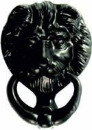 125 mm 5 inch Tudor Lions Head Door Knocker sign