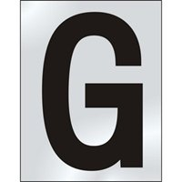 50mm polished chrome effect sign Character G sign