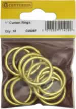 25 mm Electro Brass Curtain Rings Packet of 10 sign