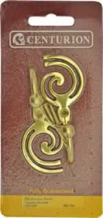 Polished Brass Double Swirl Tassel Hooks sign