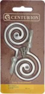 Satin Chrome Plated Spiral Tassel Hooks sign