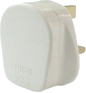 13 Amp White Fused Plug