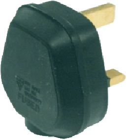 13 Amp Fused Black Tough Plug