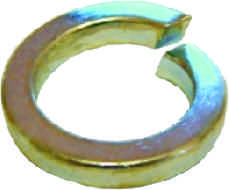 M6 Zinc Plated Spring Washer Packet of 40 sign