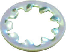 M5 Zinc Plated Shakeproof Washer Packet of 50 sign