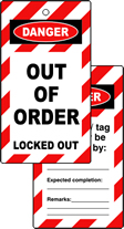 Lockout tags OUT OF ORDER Double sided 10 pack