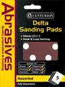 90 mm Assorted Hook and Loop Sanding Triangles Packet of 5