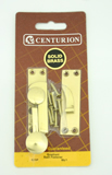 60 mm Polished Brass Quadrant Arm Sash Fastener