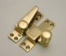 60 mm Polished Brass Beehive Pattern Sash Fastener